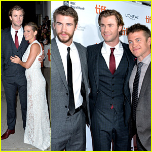 Chris Hemsworth: 'Rush' TIFF Premiere with Bros Liam & Luke!