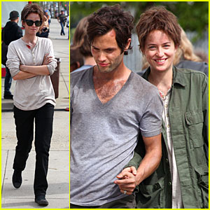 Dakota Johnson & Penn Badgley Hold Hands for 'Cymbeline'!
