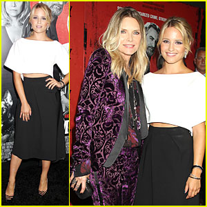 Dianna Agron & Michelle Pfeiffer: 'The Family' NYC Premiere!