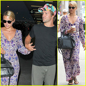 Dianna Agron & Nick Mathers Hold Hands at LAX  Airport!