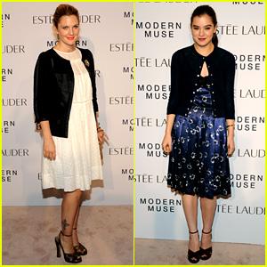 Drew Barrymore & Hailee Steinfeld: Estee Lauder Ladies!
