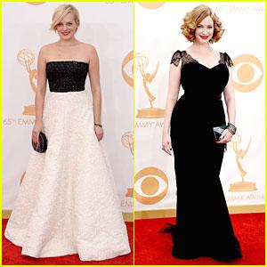 Elisabeth Moss & Christina Hendricks - Emmys 2013 Red Carpet
