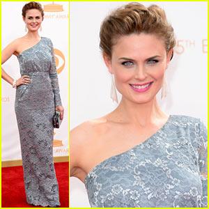 Emily Deschanel - Emmys 2013 Red Carpet