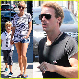 Gwyneth Paltrow & Chris Martin Spend Sunday with Moses!