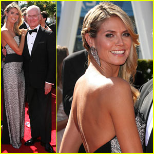 Heidi Klum: Creative Arts Emmy Awards 2013 with Tim Gunn!