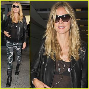 Heidi Klum: Sheer Heathrow Airport Arrival!
