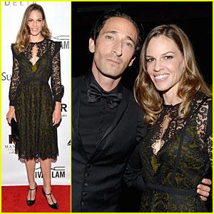 Hilary Swank & Adrien Brody: TIFF amfAR Inspiration Gala 2013