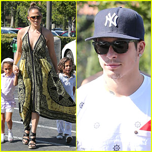Jennifer Lopez & Casper Smart: Bookstore with the Twins!