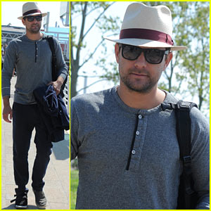 Joshua Jackson Departs Venice After Film Festival