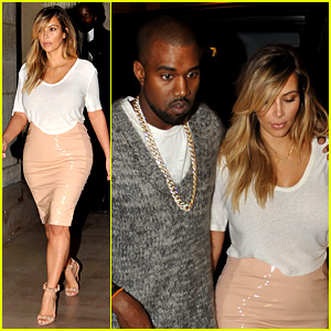 Kim Kardashian & Kanye West: Parisian Dinner Date!