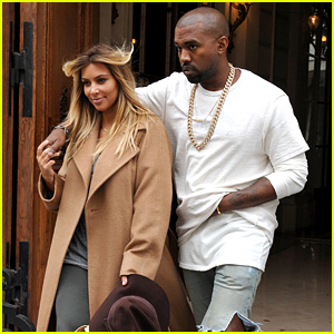 Kim Kardashian & Kanye West Step Out Together in Paris