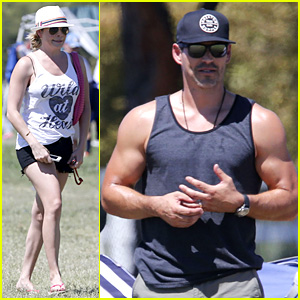 LeAnn Rimes & Eddie Cibrian Sweat It Out at Mason's Game!