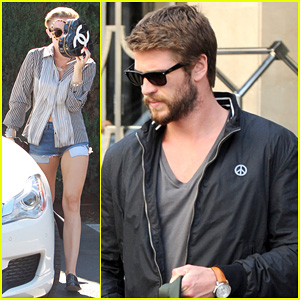 Liam Hemsworth Steps Out in London, Miley Cyrus Records in L.A.