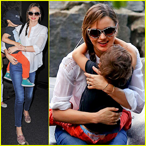 Miranda Kerr: Central Park Fun with Flynn!