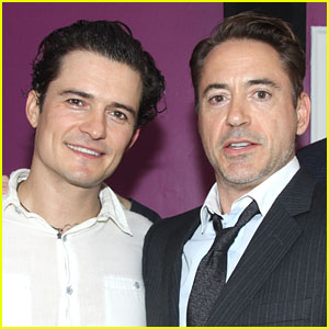 Orlando Bloom & Robert Downey Jr.: Backstage at 'Romeo & Juliet'!