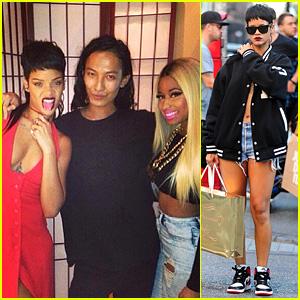 Rihanna & Nicki Minaj: Alexander Wang's NYFW After Party!