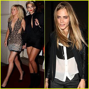 Rita Ora & Cara Delevingne Grab McDonald's After GQ Awards
