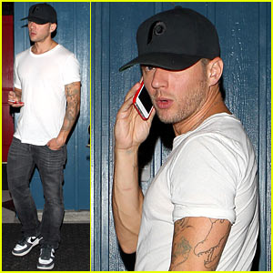 Ryan Phillippe Leaves Hooray Henry's After Birthday Celebrations