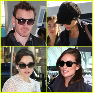 Michael Fassbender, Scarlett Johansson, & Others Depart TIFF!