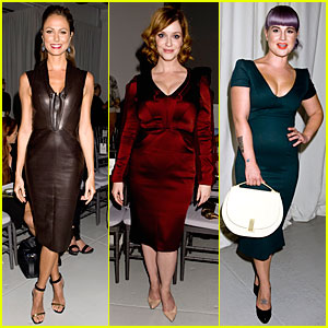 Stacy Keibler & Christina Hendricks: Zac Posen Fashion Show!