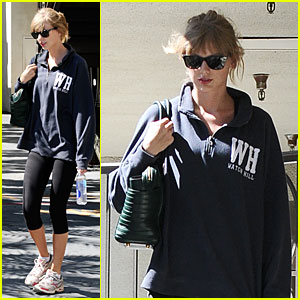 Taylor Swift Steps Out For Workou