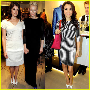 Tilda Swinton & Samantha Barks: Pringle of Scotland Flagship Launch!