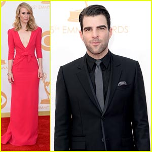 Zachary Quinto & Sarah Paulson - Emmy Awards 2013