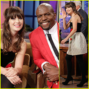 Zooey Deschanel Talks Haunted Apartment on 'Leno'!