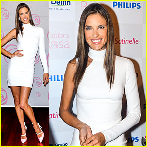 Alessandra Ambrosio: White Hot at Brazilian Event!