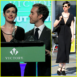 Anne Hathaway: Victory Fund Brunch with Adam Shulman!