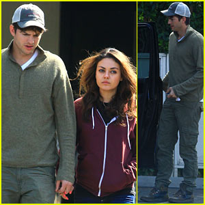 Ashton Kutcher Holds Car Door Open for Mila Kunis!
