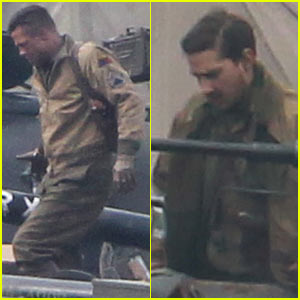 Brad Pitt's 'Fury' Crew Warn Town Residents About Noise Levels!