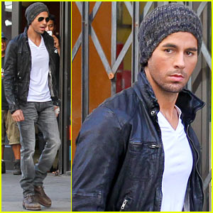 Enrique Iglesias: Leather Jacket Cool for 'Heart Attack' Video!