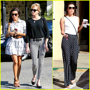 Eva Longoria & Melanie Griffith: Ken Paves Salon Gals!