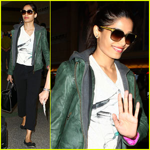 Freida Pinto Hits LAX After Birthday Weekend