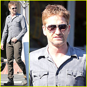 Gerard Butler Enjoys Fred Segal Lunch with Friends!