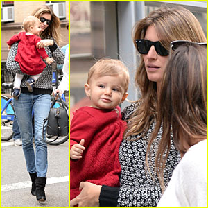 Gisele Bundchen & Vivian: Big Apple Shopping Duo!
