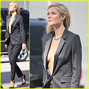 Gwyneth Paltrow Goes Braless for Hugo Boss!