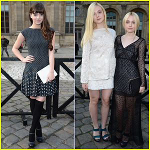 Hailee Steinfeld, Elle & Dakota Fanning: Louis Vuitton Fashion Show