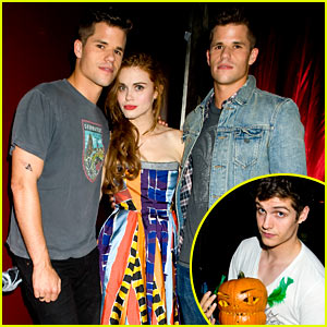 Holland Roden & 'Teen Wolf' Stars - Just Jared Halloween Party 2013