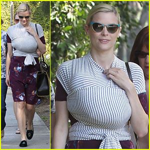 Jaime King Steps Out with Newborn Baby James!