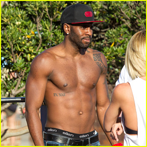 Jason Derulo: Shirtless Beach Workout in Australia!