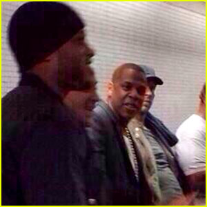 Jay Z & Chris Martin Ride the Tube to O2 Arena Concert