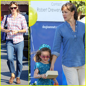 Jennifer Garner: Brentwood Birthday Party with Seraphina