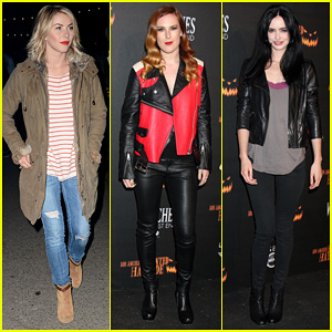 Julianne Hough & Rumer Willis: Haunted Hayride Opening Night!