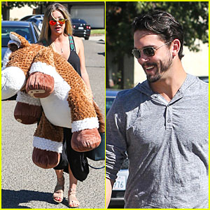 Kaley Cuoco & Ryan Sweeting Brings Big Gift to Birthday Party!