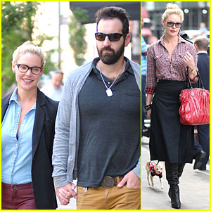 Katherine Heigl & Josh Kelley Hold Hands After Lunch