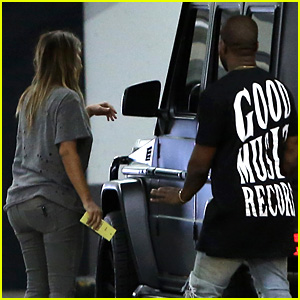 Kim Kardashian & Kanye West Go Casual for Sunday Dinner