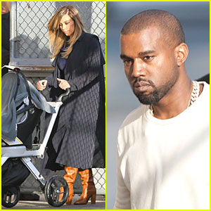 Kim Kardashian & North Support Kanye West on 'Kimmel'!