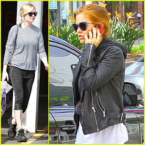 Kirsten Dunst & Isla Fisher: Rainy Day Workout!